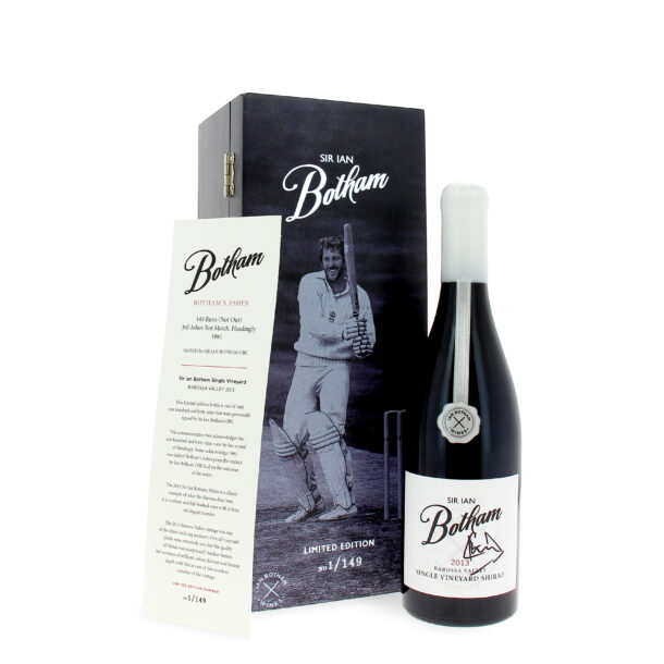 Sir Ian Botham signed Barossa Valley Shiraz celebrating his 149 runs in the ASHES