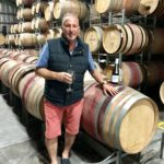 Sir Ian Botham at Barossa Valley Australia wine blending new vintage wines