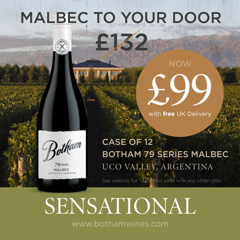 Malbec to your door OFFER a case of 12 Uco Valley Botham 79 Series Malbec