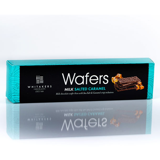 Whittakers salted caramel wafers