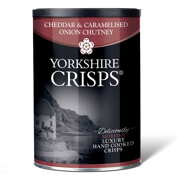 Yorkshire cheddar & caramelised opinion chutney crisps