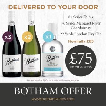 Botham Gin , Shiraz and Chardonnay