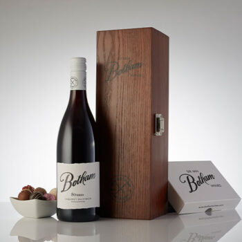 80 Series Cab Sav in a wooden gift box with truffle